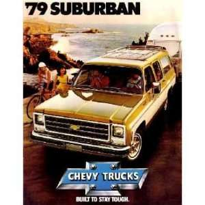 1979 CHEVROLET SUBURBAN Sales Brochure Literature Book