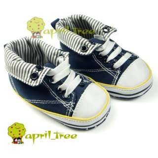 Toddler Blue Baby Boy Infant shoes Sneaker(C91)size 2 3 4