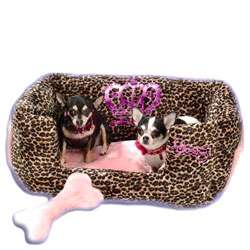 JLT Luxury Leopard print Pet Bed