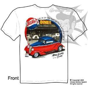 Size Medium, Pepsi Diner 33 34 Ford Coupe, Hot Rod T Shirt, New, Ships