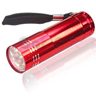 NEW 8 ITEM MINI 9 LED FLASHLIGHT LAMP TORCH SUPERBRIGHT