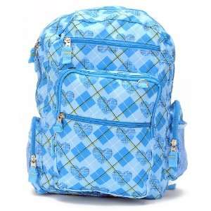 Back to School   Paul Frank Julius Monkey Head in Blue Large Backpack