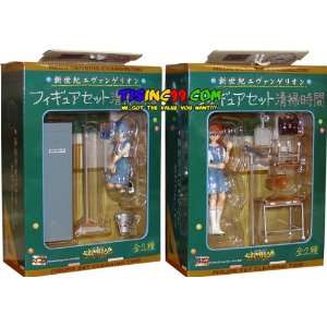 Neon Genesis Evangelion Cleaning Time Action Figure Set