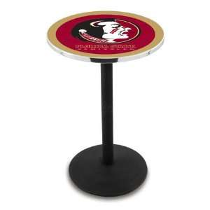 42 Florida State Seminole Bar Height Pub Table   Round