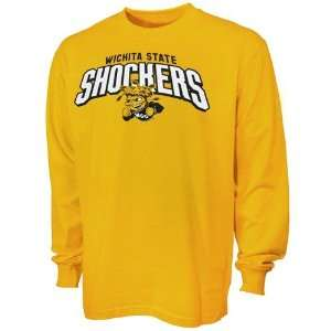 Wichita State Shockers Yellow Big Time Long Sleeve T shirt