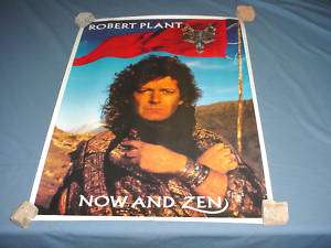 ROBERT PLANT Now and Zen NICE Poster RARE