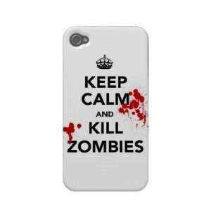keep calm and kill zombies Iphone 4 Case Cell Phones