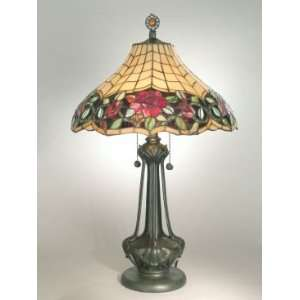Dale Tiffany Autumn Rose Tiffany Table Lamp with Mica