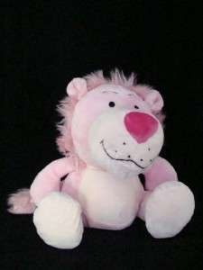 Cute pink plush lion stuffed animal Valentines Day Gift
