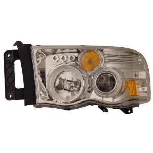 DODGE RAM 02 05 PROJECTOR HEADLIGHTS G2 HALO CHROME CLEAR
