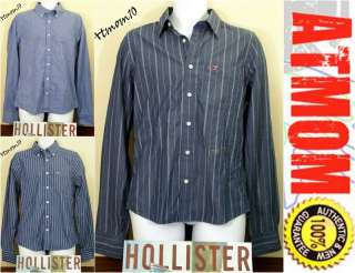NWT Hollister Men Casual Shirt Button Front Long Sleeve M L XL