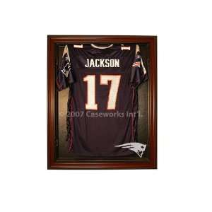New England Patriots Football Jersey Display Case with Removable Face