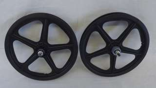 Skyway Tuff II Mag Wheels Black 16 Freewheel NEW BMX Pit Bike