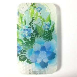 Blue Flowers Soft iPhone Case Cover 3G 3Gs + LCD Pro