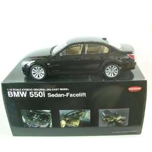 BMW 550i 5 Series Black Diecast Car Model 1/18 Kyosho Toys & Games
