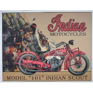 Indian Scout Motorcycle Metal Sign