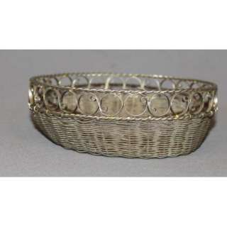 ANTIQUE ART DECO EUROPEAN HAND MADE SILVER FILIGREE BOWL CUP