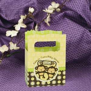 Monkeys Neutral   Mini Personalized Baby Shower Favor Boxes Toys