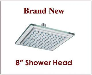 GTC Rainfall Shower Head Polished Chrome Bathroom Massage Shower Head