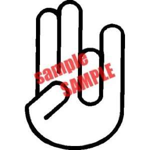 SHOCKER LOGO WHITE DECAL STICKER VINYL