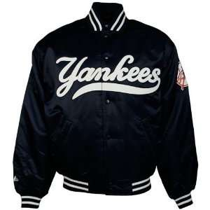 Majestic New York Yankees Navy Blue Authentic Collection Satin Jacket