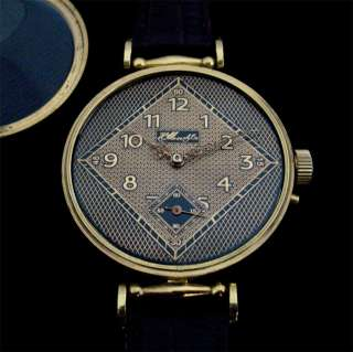 Gorgeous Swiss H. Moser & Co Watch Gold Plated Case Art Deco Dial