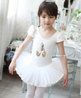 Girls Party Dance Ballet Tutu Dress Costume 3 8y White Leotard Color