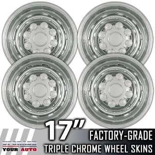 03 11 Dodge Ram 2500 3500 17 Chrome Wheel Skin Covers