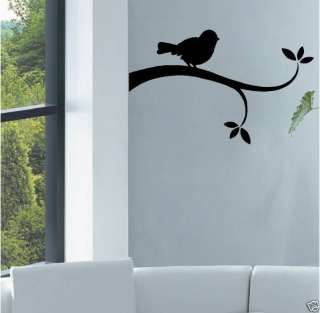 BIRD ON A BRANCH   Vinyl Wall Decal Graphic Art Sticker