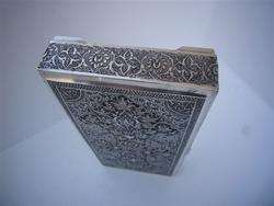 MUSEUM QUALITY ANTIQUE SIGNED PERSIAN EXPORT SOLID SILVER SCHOLAR