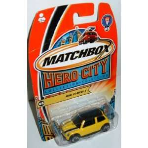Matchbox Mini Cooper S Sport Yellow with Black Roof Hero