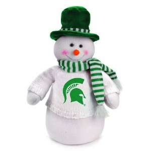 18 NCAA Michigan State Spartans Snowman Decoration