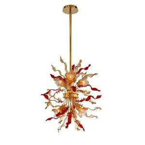 Hampton Bay Delphian 6 Light Hanging Brass Pendant HD132088 at The