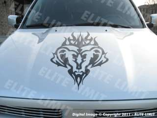 Truck Decals Stripes TRIBAL RAM GOD HEAD Hood Graphic Stickers