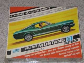 1965 FORD MUSTANG GT 1/12 SCALE MODEL CAR KIT UNOPENED MIB