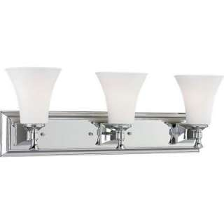Progress Lighting Fairfield Collection Chrome 3 light Vanity Fixture
