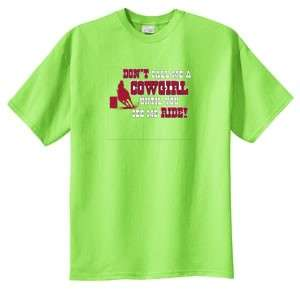 Cowgirl Till You See Me Ride Barrel Racing T Shirt S 6x