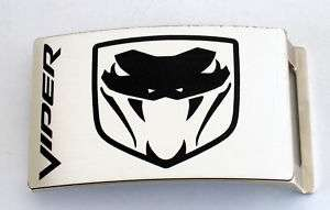 LICENSED DODGE VIPER V10 POWERED SPORTS CAR BELT BUCKLE