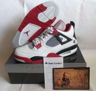 2006 NEW NIKE AIR JORDAN RETRO IV 4 MARS FIRE RED DS 10