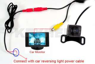 Car Vehicle Color Rear View 170º Backup Camera Reverse