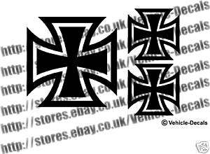 iron cross sticker vw golf camper beetle bike hot rod