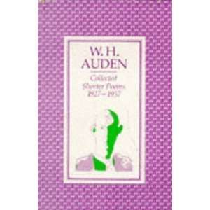 Collected Shorter Poems 1957 [Paperback] W H Auden Books