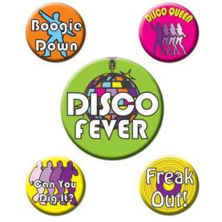 Disco Party Buttons (5 count)   Costumes, 80126