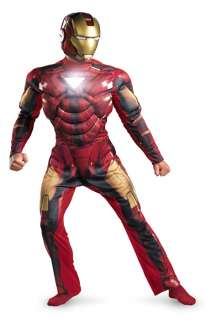 Iron Man 2 Mark VI Light Up Deluxe Adult Costume for Halloween   Pure