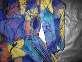 NILS WOMENS SKI JACKET Size 6 Small Modern Art Painting Look Print