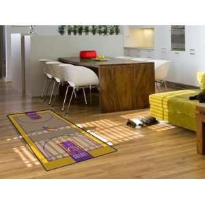 Los Angeles La Lakers Basketball Court Runner Area Rug