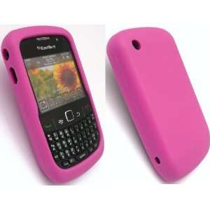 Hot Pink Silicone Case for Blackberry Curve 8520 8530 9300 9330