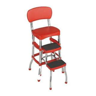 Cosco 11120RED1 Retro Chair/Step Stool, Red