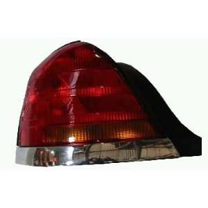 98 04 Ford Crown Victoria Tail Light W/Chrome LEFT