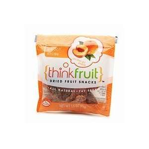 Thinkfruit On the Go Dried Fruit Snack, 12 packs, Peach Slices, 1 case